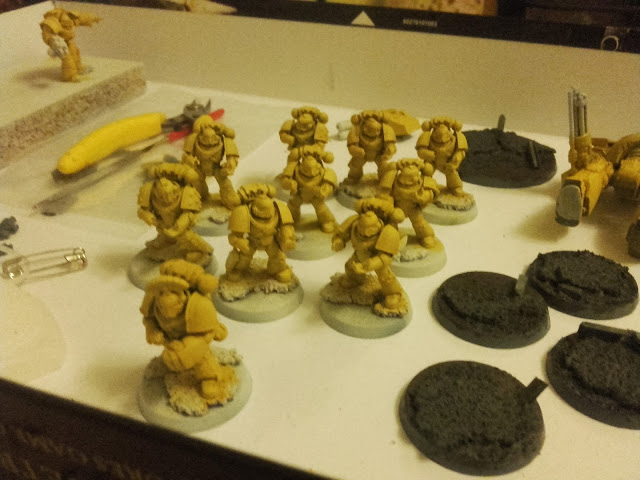 Imperial Fists - Breacher squad WiP