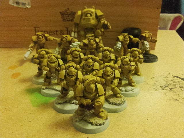 Imperial Fists - Stone Gauntlet WiP