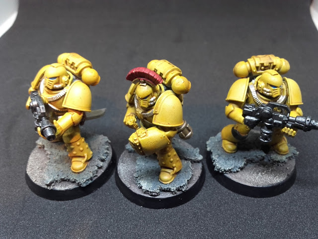 Imperial Fists: Breacher squad specialists.