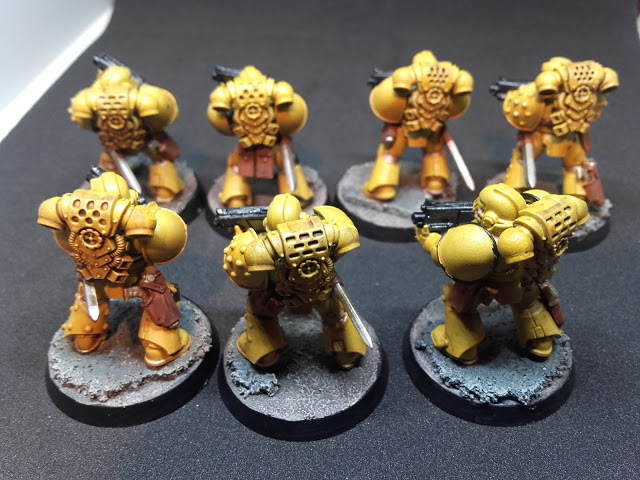 Imperial Fists: Breacher squad rank and file.