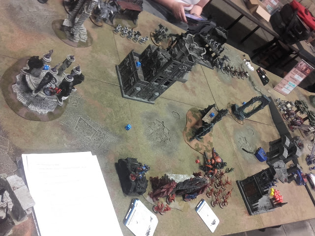 Warhammer 40K Battle report: Deployment of the Thousand Sons.