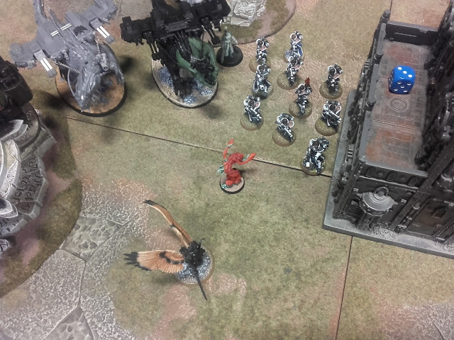 Warhammer 40K Battle report: One actually survived! Mainly as they mostly shot around it.