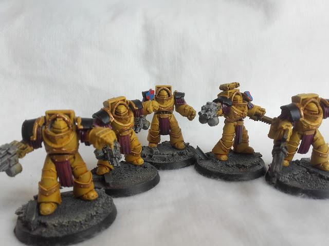 Imperial Fists: Cataphractii Squad.