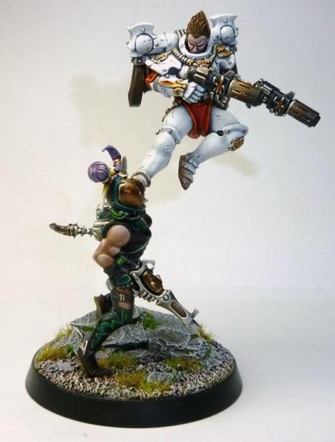 "Golden Demon Silver winner in the Duel category ""Hammer of Wrath!"""