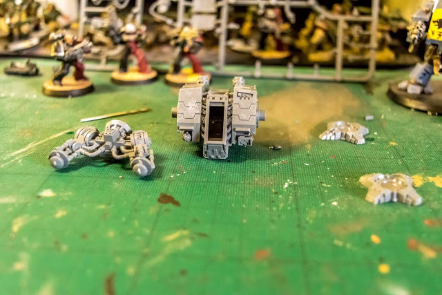 Ironclad in pieces, ready to begin.