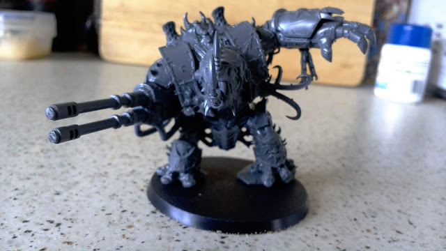 Just a happy little Hellbrute, totally not dedicated to Khorne or anything.