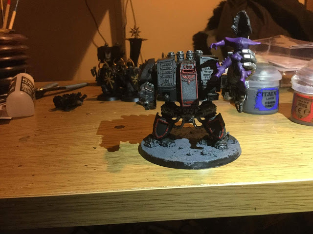 Deathwatch dreadnought with toy