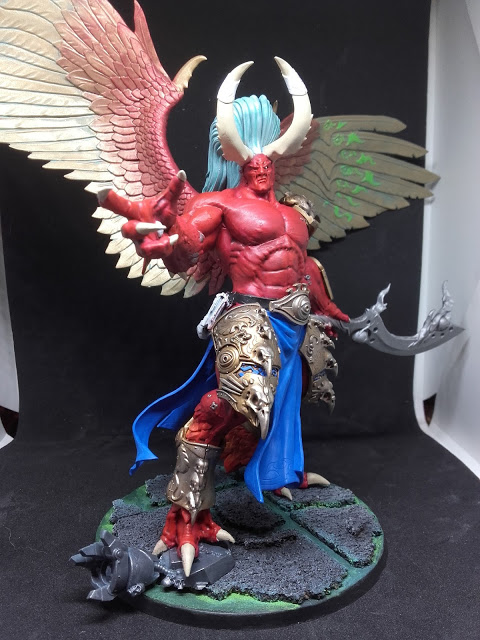 Magnus the Red: Almost too big to fit in the light box.