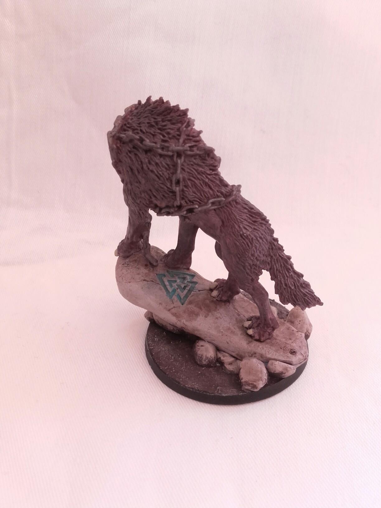 The Wolf Fenir on his rune