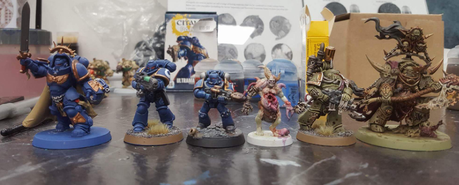 New 8th Edition 40k models size comparison - Stepping