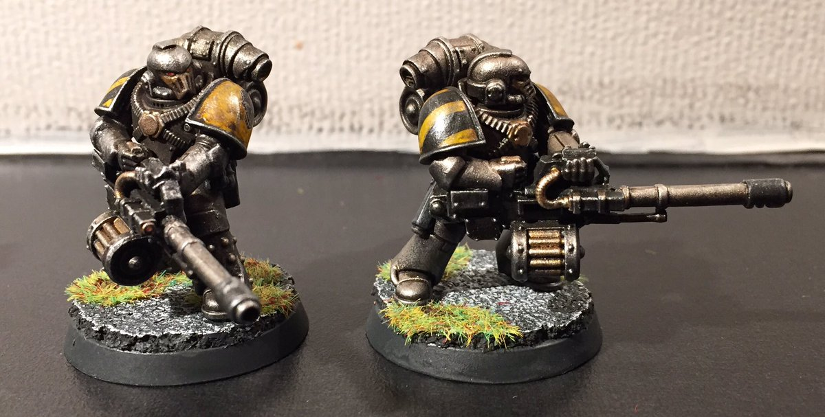 Iron Havocs with mark IV 'Maximus' armour and Kalibrax pattern autocannons