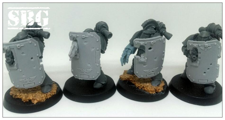 Iron Warriors Mk III breachers battle damage
