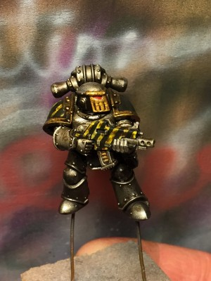 Burning of Prospero tacticals paint wip 2