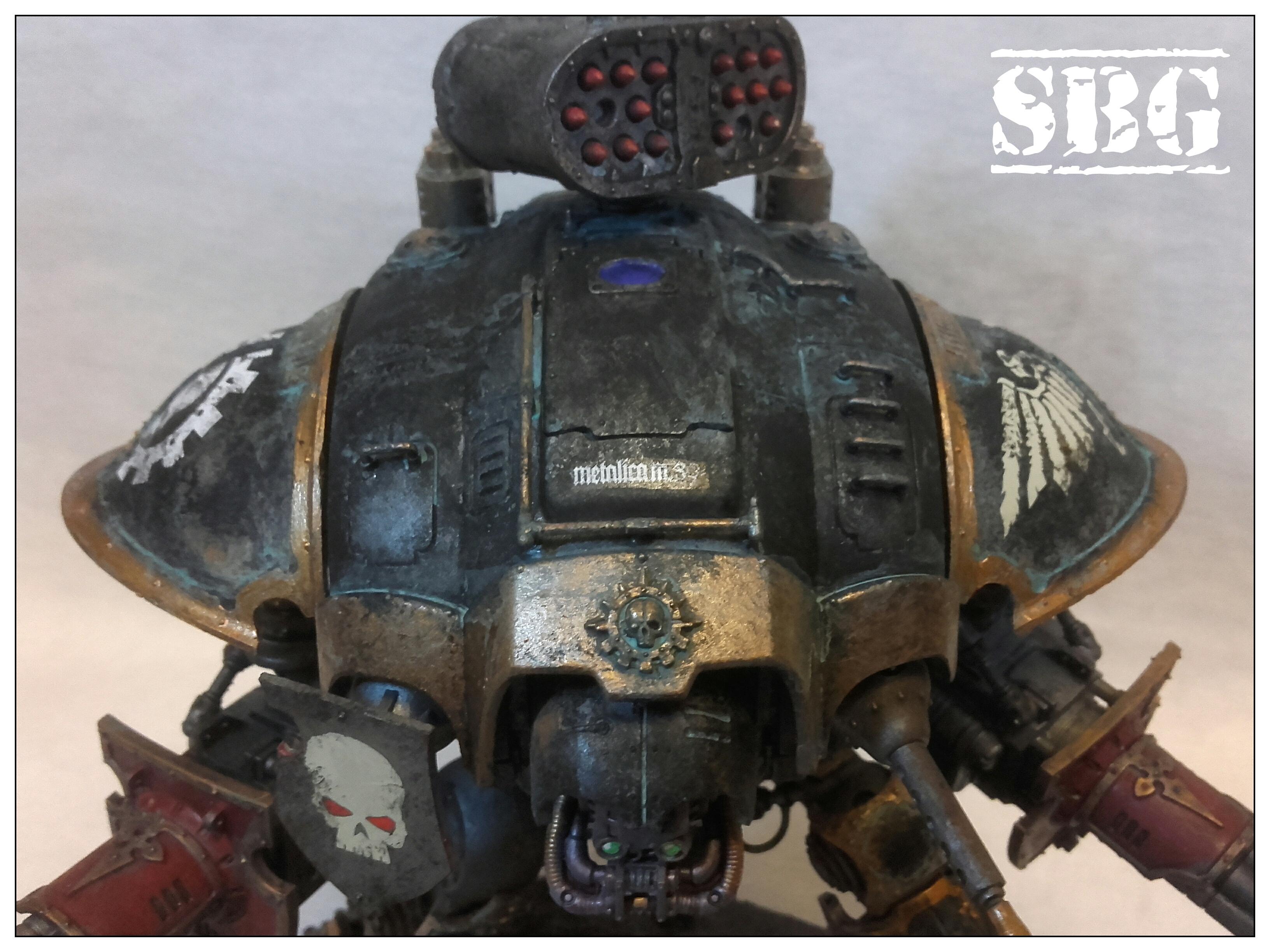 Mechanicus logo Renegade Knight twin avenger gatling cannons 03