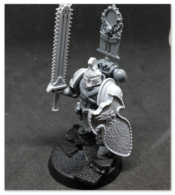 Space marine with an over sized chainsword