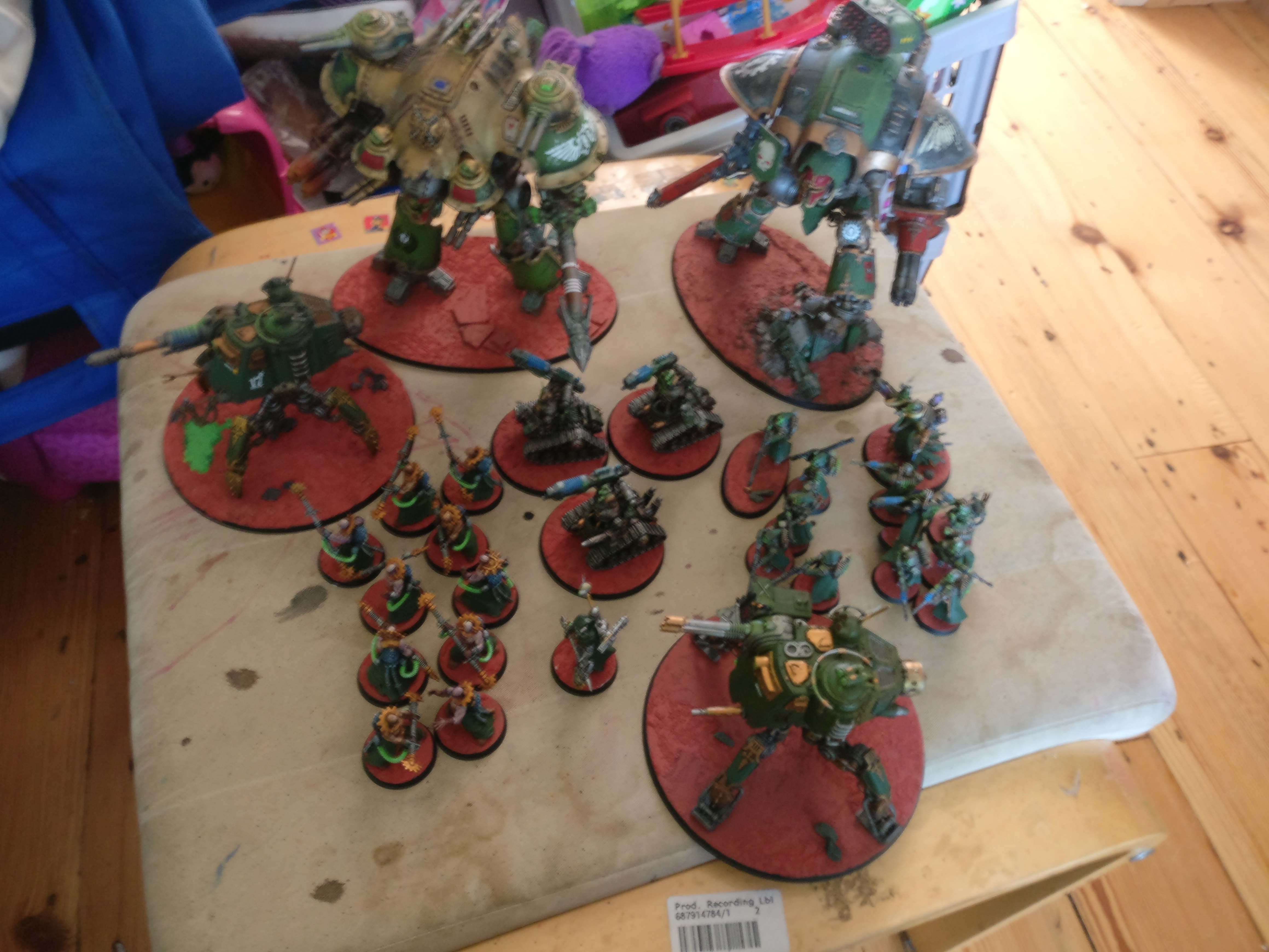 2000 points of AdMech and Knights for Warhammer 40k 8th edition