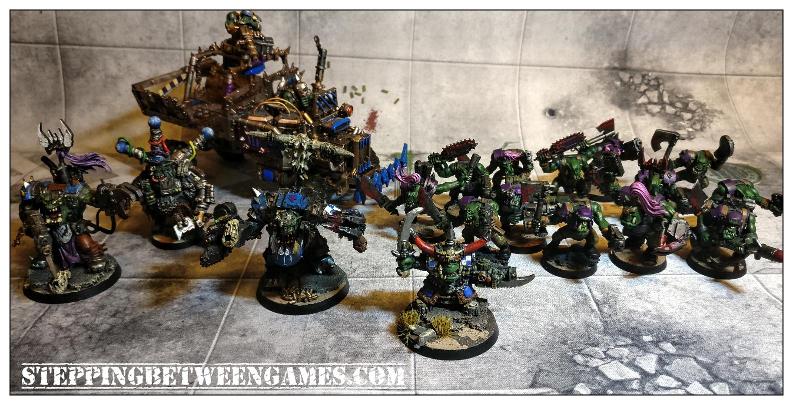 Ork Boyz, Ork Trukk and Ork HQs
