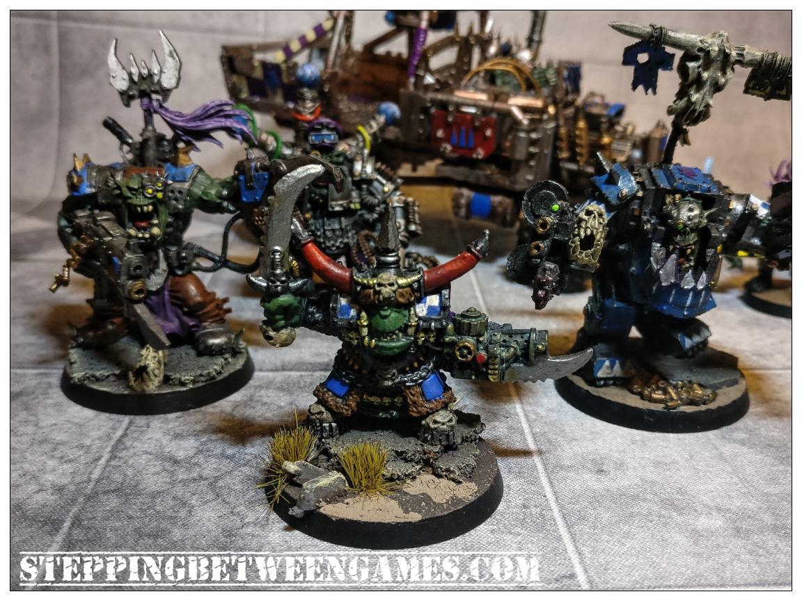 Ork HQs, including original Gazhkull and a conversion