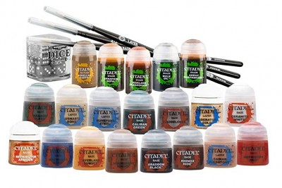 Citadel paints and brushes
