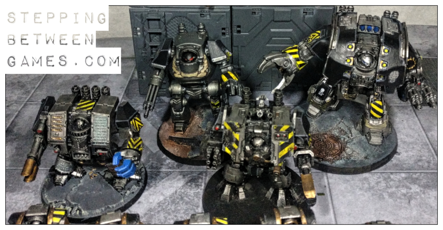 Iron Warriors dreadnoughts