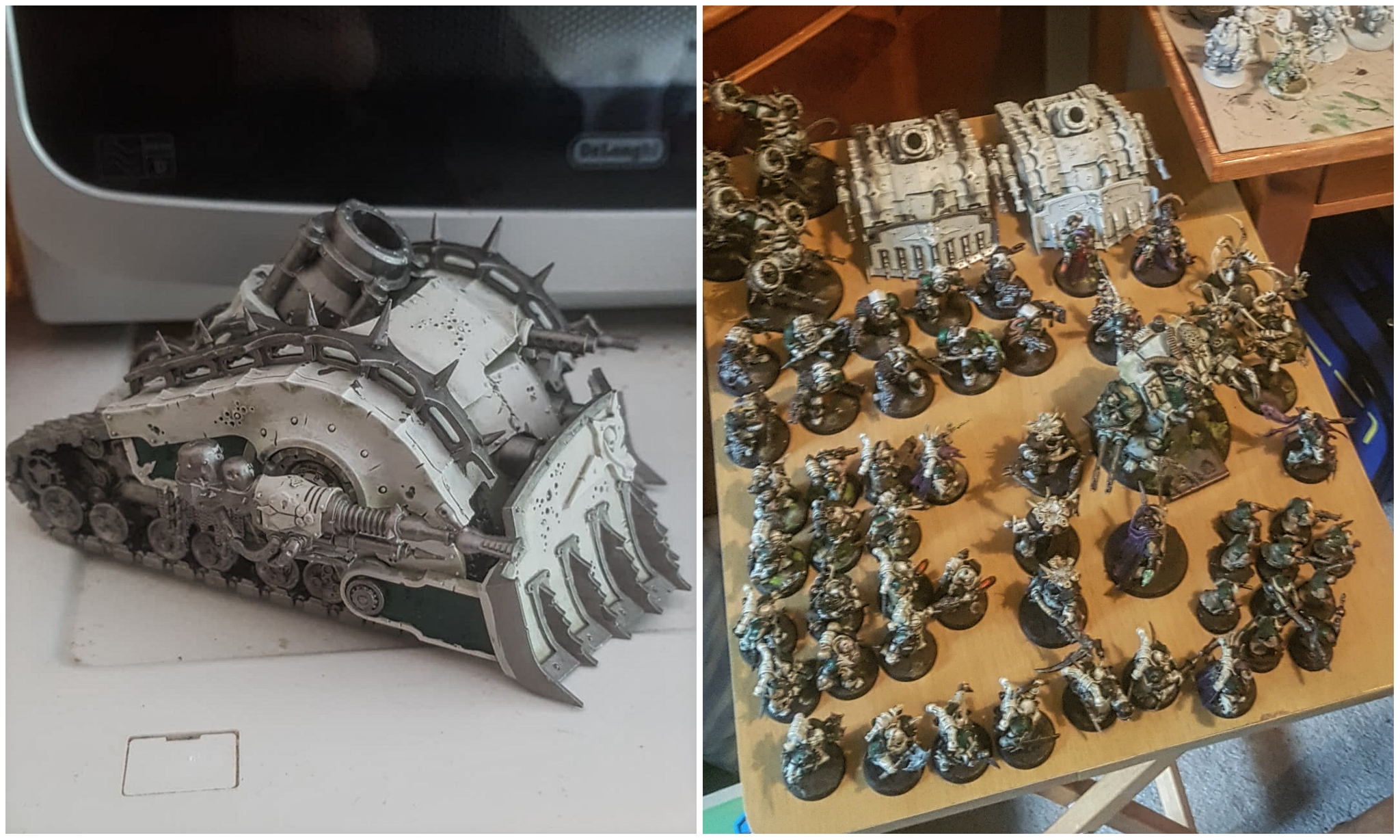 Plague burstcrawler and deathguard