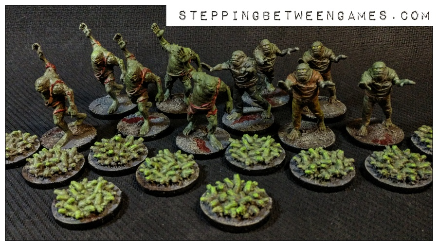 Hellboy the Boardgame: Painted miniatures frogmen