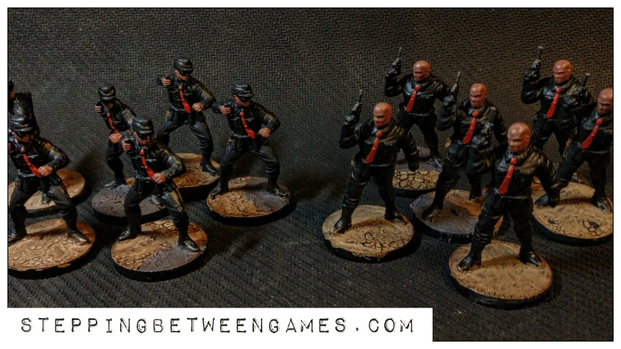 Hellboy the Boardgame: Painted miniatures nazis 2