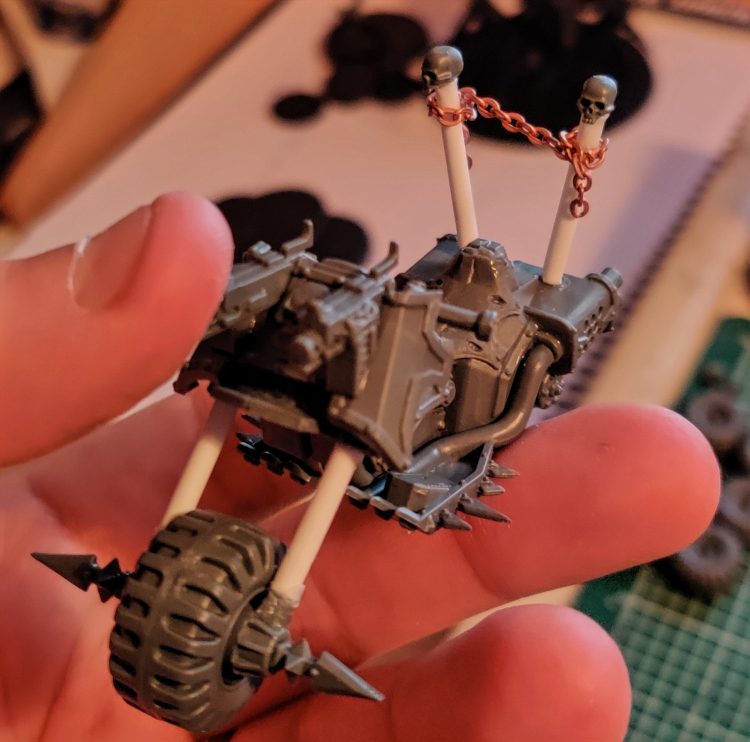 chaos space marine bike converted