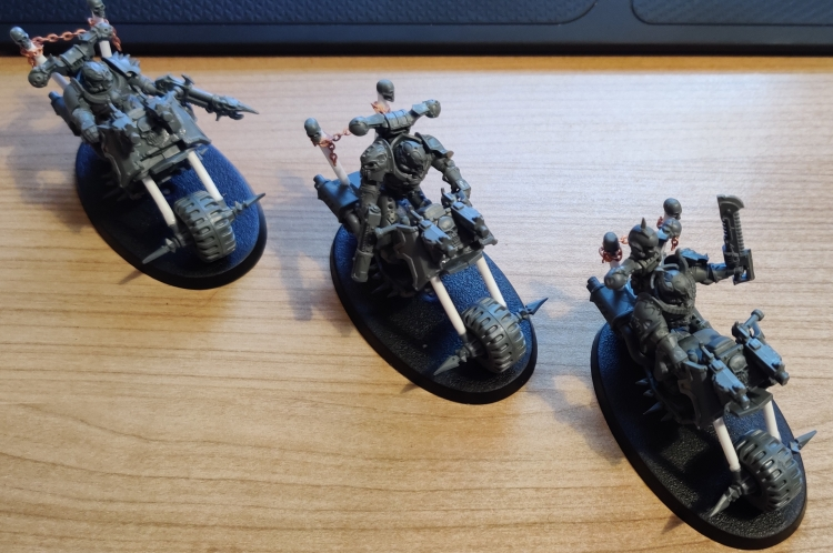 converted chaos space marine bikers
