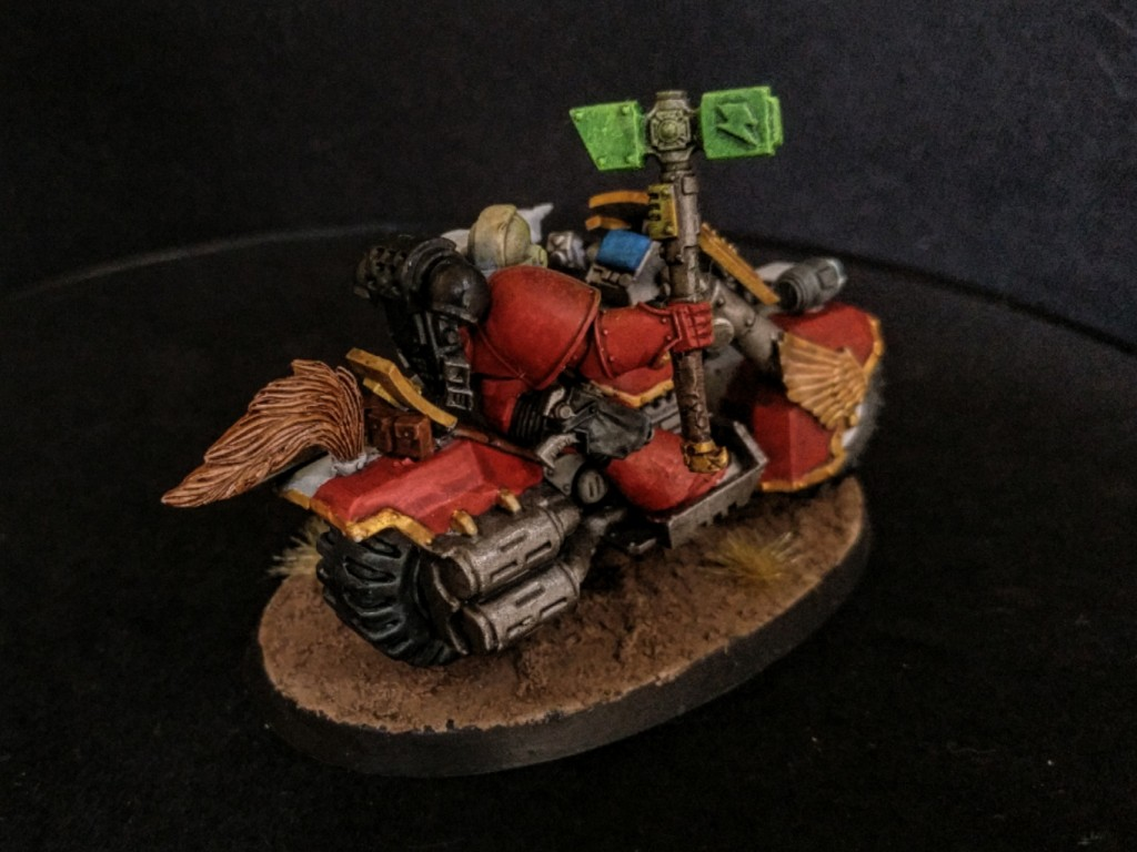 Space Marine biker captain back