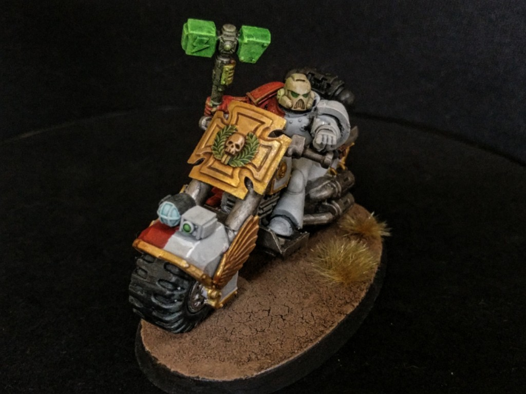 Space Marine biker captain front