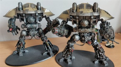 Chaos Imperial Knight Crusader from the back